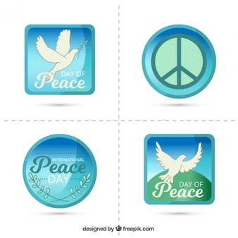 Stickers to celebrate the international day of peace