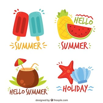 Stickers with summer elements