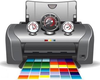 Stock Ilustrations Printer Service