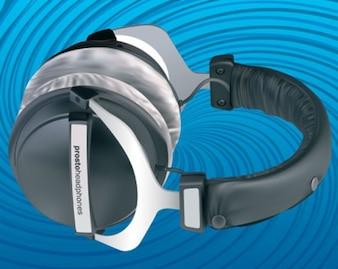 Stock Vector 3D Headphones