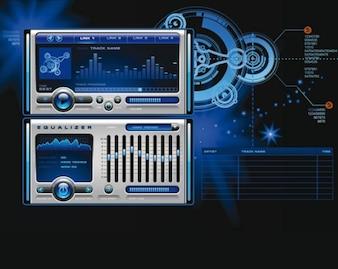 Stock Vector mp3 Media Player