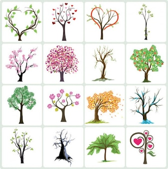 Stock Vector Tree collection