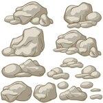 Stones, cartoon
