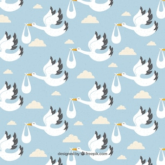 Storks pattern