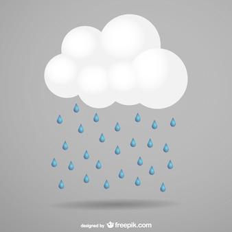 Storm cloud and rain