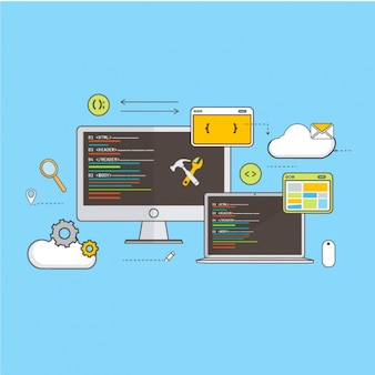 Strategy of web development background
