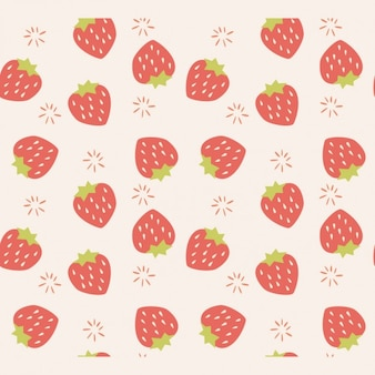 Strawberries pattern design