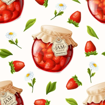 Strawberry jam background