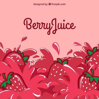Strawberry juice background