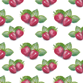 Strawberry pattern background
