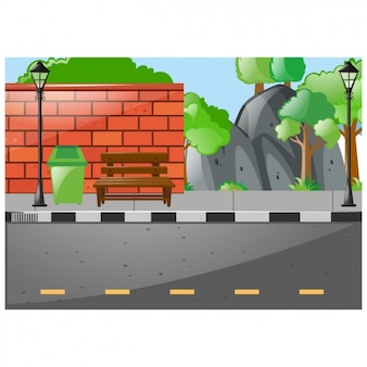 Street background design