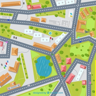 Street map illustration background