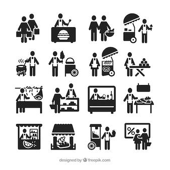 Street vendor icons