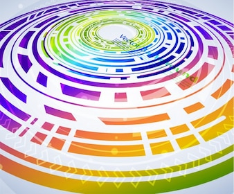 Strip futuristic graphic cycle light