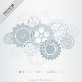 Striped background of gear mechanism in grey tones