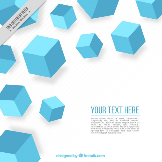 Striped background with blue cubes