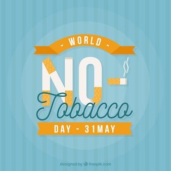 ノーたばこ日のタバコとストライプの背景