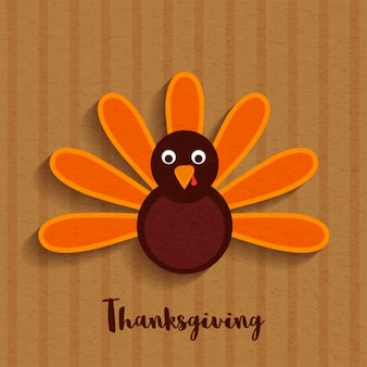 Striped background with minimalist turkey for thanksgiving