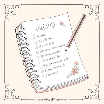 Striped background with ornamental frame and cute checklist