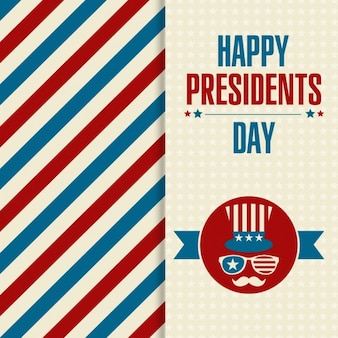 Striped card of Presidents Day