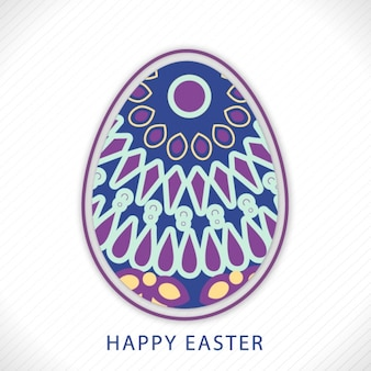 Striped easter background with abstract egg