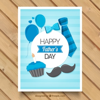 Striped greeting card with masculine accessories