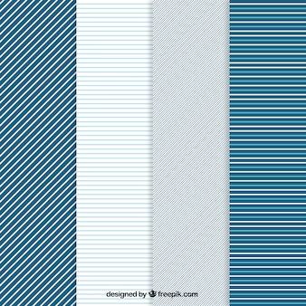 Striped patterns in blue tones
