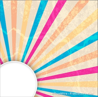 Striped sunburst banner abstract background