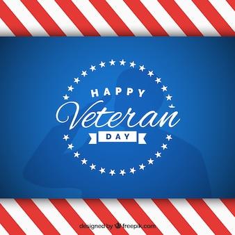 Striped veterans day design