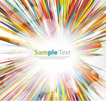 Stripes burst colorful design background