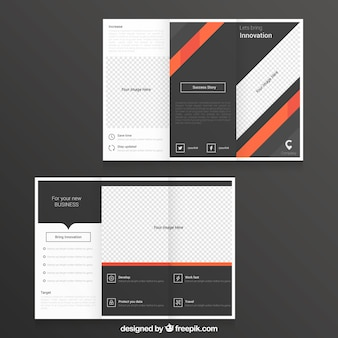 Stripes tri fold template