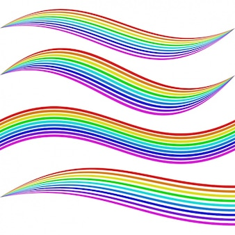 Strokes with rainbow colors