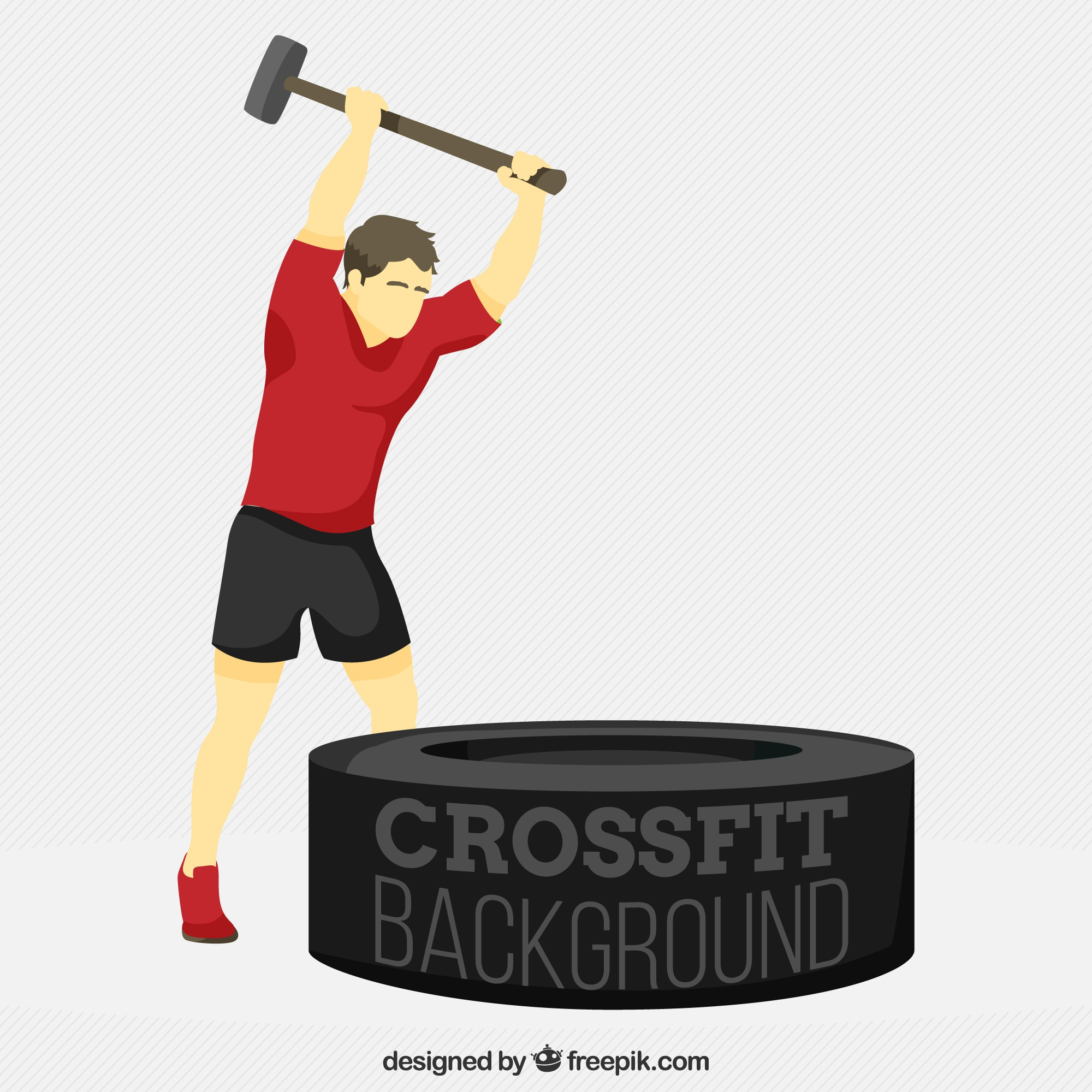 Strong man crossfit background