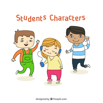 Student Characters Set