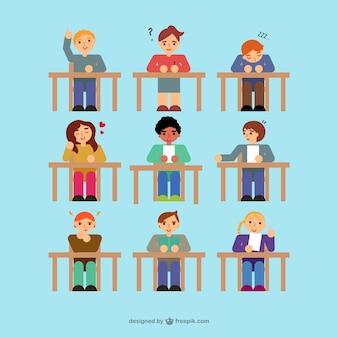 Students vector set