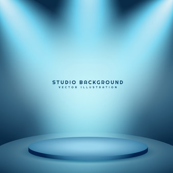 Studio background with podium