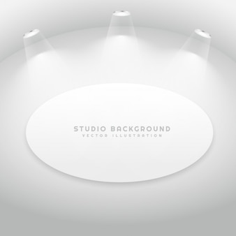 Studio room with oval picture frame