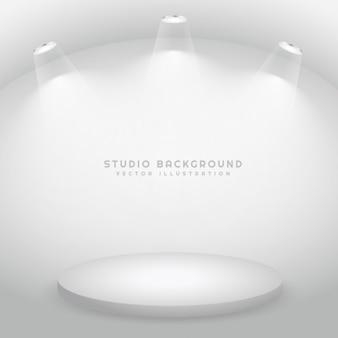 Studio with a podium