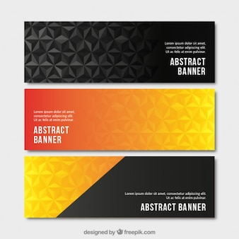 Stylish abstract banners