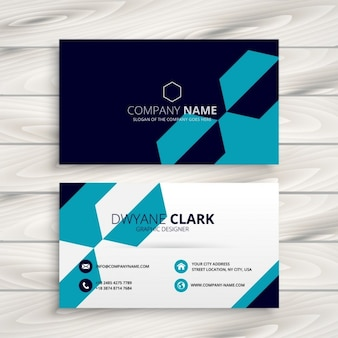 Stylish abstract business card