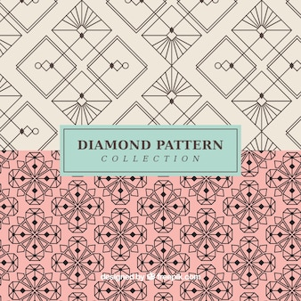 Stylish abstract vintage patterns