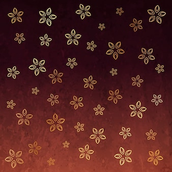 stylish background of golden flowers