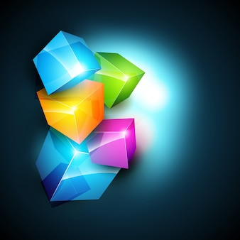 Stylish background with 3d cubes