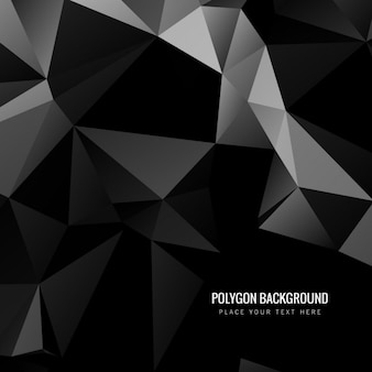 Stylish black polygonal background