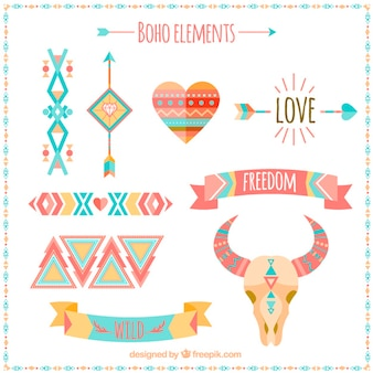 Stylish boho elements