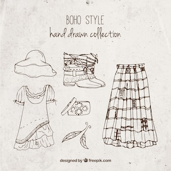 Stylish boho style clothes collection