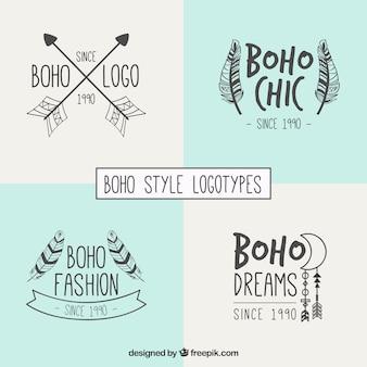 Stylish boho style logotypes