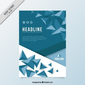 Stylish business brochure with modern triangles