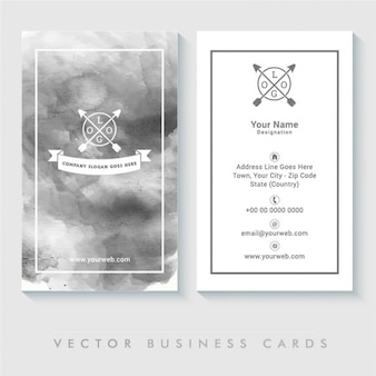 Stylish business card in watercolor style