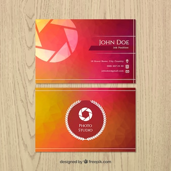 Stylish business card of photography